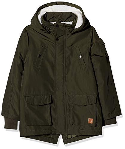 Name It Nkmmadoc Parka Jacket Noos, Giacca Bambino, Verde Forest Night, 140
