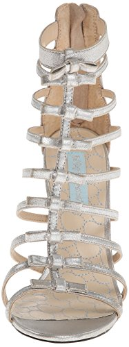 Betsey Johnson Tie Synthétique Sandales Gladiateur silver