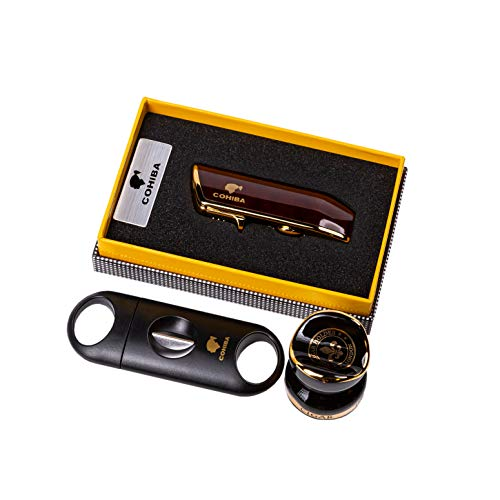 TheCigarHolder Zigarre-Geschenkpaket: Zigarettenanzünder, Zigarrenablage, Cigar v Cutter