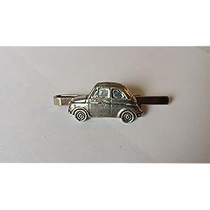 FIAT 500auf einer Krawatte Clip (Slide) aus feinem englischen Zinn