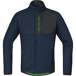 Gore Bike Wear Power Trail Thermo Chaqueta, Hombre, Negro (Black Iris/Black), L
