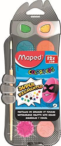 Maped 811520 - Acuarelas, 12 pastillas y pincel