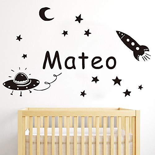 BailongXiao Bebé Kindergarten Pegatinas de Pared Luna Estrellas Cohete Vinilo removible...