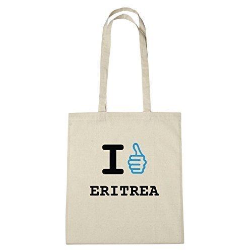 JOllify Eritrea di cotone felpato b4653 schwarz: New York, London, Paris, Tokyo natur: I like - Ich mag