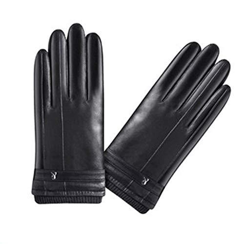Preisvergleich Produktbild Unbekannt XUERUI Handschuhe Fäustlinge Handschuhe Weich Warm Halten Gemütlich Kälteschutz Winddicht Winter Mode Berührungsempfindlicher Bildschirm Handschuhe Fäustlinge (Farbe : SCHWARZ)