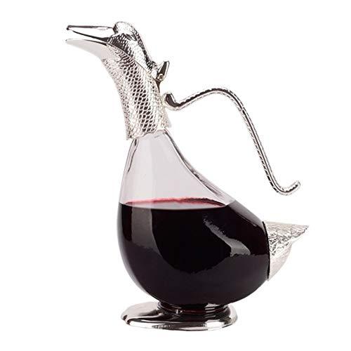 WZHREDWINE Kreative Wein Dekanter Kristallglas Wein Filterkugel Belüftungsgerät Geschenke Für Familienfeier 1050 ML