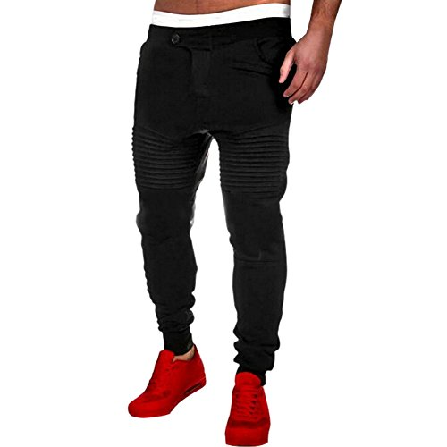 West See Männer Sportshose Casual Baggy Hose Hiphop Jogginghose Pants Lässige Traininghose Sweatpants