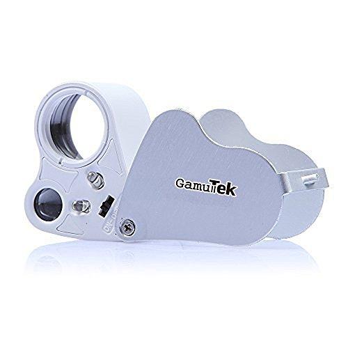 GamutTekTM 30x 60x Fach LED Juwelier Uhr Lupe Vergrößerungsglas Taschenlupe Magnifier Lesehilfe faltbar