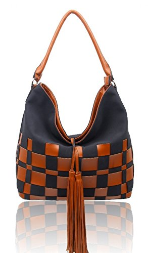 Craze London, Borsa a spalla donna Black
