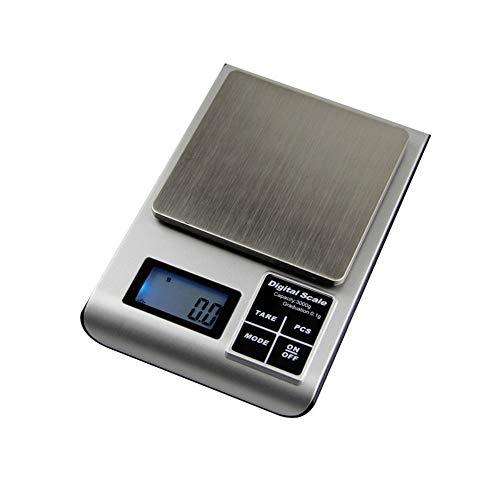 Cucsaist Cocina Doméstica para Hornear, Mini Joyería, Báscula Electrónica, Comida De Frutas Y Verduras, Peso En Gramos, Escalas, 200 G / 0.01 G