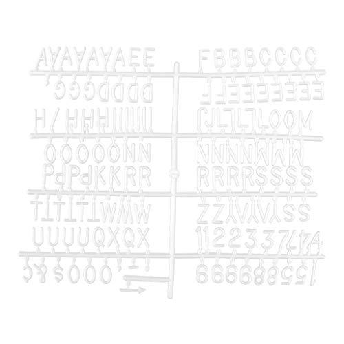 KunmniZ 290 Unidades 2 Tablas/Set plástico Blanco