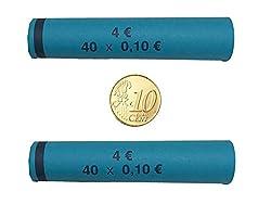 Münzhülsen für alle Münzen 1 Cent bis 2 Euro (10 Cent - 104 Stück)