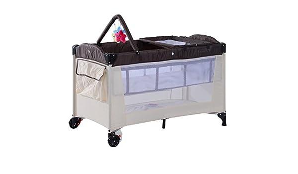Tragbare baby reisebett mit kleingeld rack stubenwagen mit 3 soft