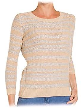 Carrera Jeans - Suéter 872A0203A para mujer, de rayas, ajuste regular, manga larga