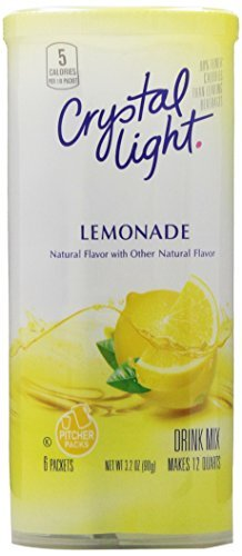 CRYSTAL LIGHT LEMONADE DRINK MIX - MAKES 12 QUARTS (6 x 2 QUART PACKS) - AMERICAN IMPORTED by Crystal Light (Mix Light Crystal)
