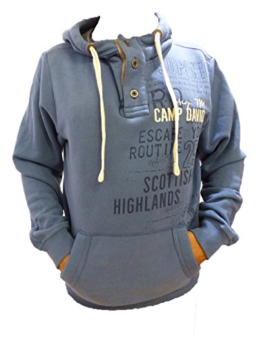 CAMP DAVID SCOTTLISH HIGHLANDE I IRIS BLUE SWEATSHIRT WITH HOOD S M L XL XXL XXXL (M)