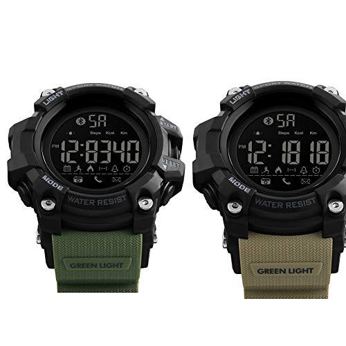 GMACCE GPS Smartwatch OLED Touchscreen, 2-Week Battery Life, Indoor und Outdoor Sports, 50M wasserdicht, Anruf-Mahnung, Remote-Foto, Outdoor-Uhr