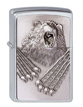 Zippo 2.003.073 Feuerzeuge Roaring Beast Emblem - Collection 2013 - Street chrom