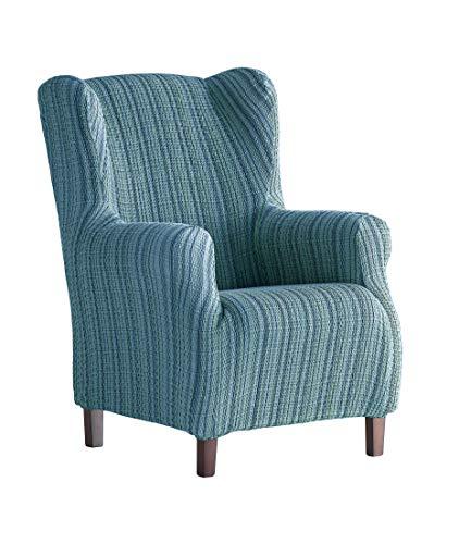 Martina Home Schutzhülle aus elastischem Sessel Ohrensessel 33x42x8 cm blau
