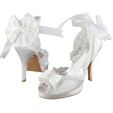 RTRY Donna Tacchi Primavera / Estate Tacchi / Piattaforma Raso Elasticizzato Wedding / Bianco Perla Altri Ci Avorio9 / Eu40 / Uk7 / Cn41 US8 / EU39 / UK6 / CN39