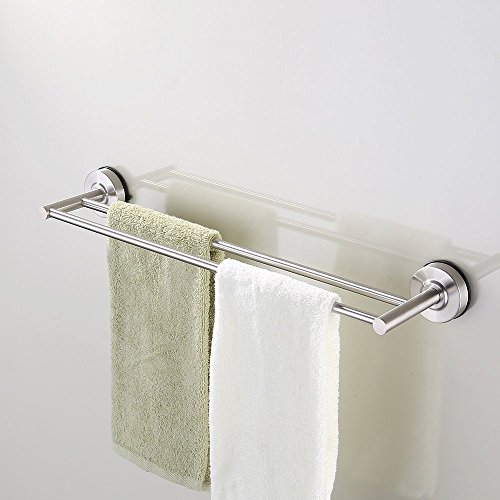 KES Suction Cup Double Towel Bar...
