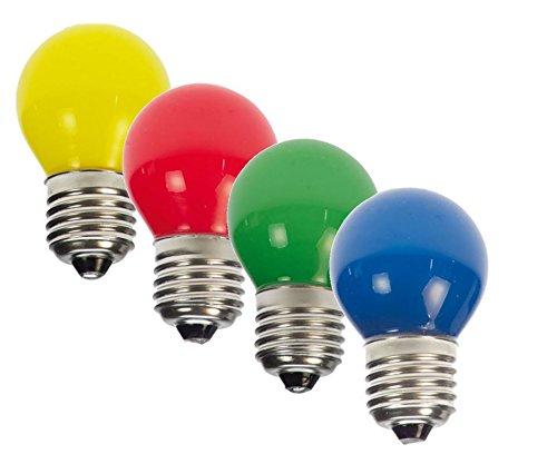 16 x LED Tropfen bunt gemischt rot gelb grün blau Deko Lampe birne farbig für Deko Lichterkette