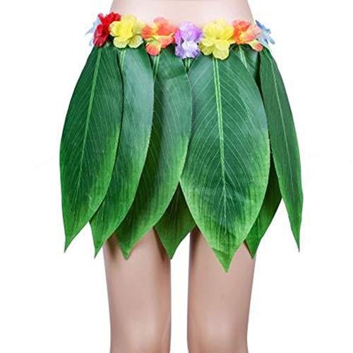 AiBest Hula-Rock künstliche hawaiianische Blätter Rock DIY Requisiten für Sommer-Kostümparty (1 Pack)