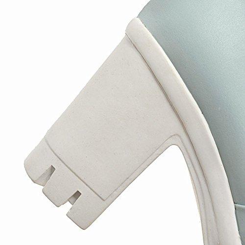 MissSaSa Donna Scarpe col Tacco Ciccia Alto Dolce Plateau Azzurro