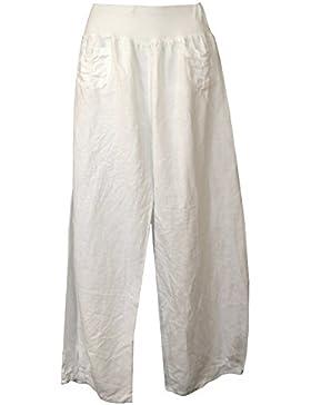 Pantalon lino para mujer, Made in Italy