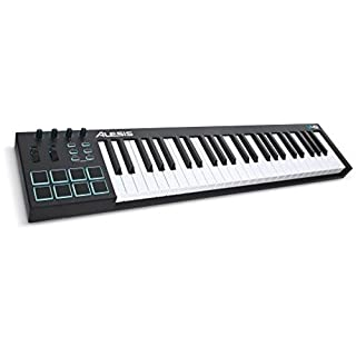 Alesis V49 49-Key USB MIDI Keyboard Controller with 8 Backlit Pads, 4 Assignable Knobs and Buttons Plus Production Software Included