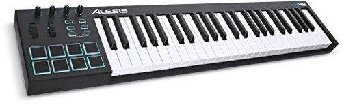 Alesis V49 USB MIDI Pad - Keyboard-Controller mit 49 Tasten, 8 anschlagdynamische-Pad mit 4 zuweisbare Regler und Taster