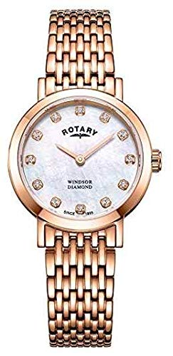 Rotary Montre Femme Date Date en Or Rose LB05304/41/D