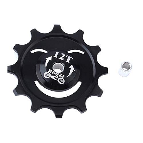 TriLance 12 / 14T Positiv und Negativzahnführungsrad Hinterradführungsrad Mountainbike Hinteres Einstellrad Lager Schwungrad Aluminiumlegierung Loch Führungsrad Fahrrad Führungsrolle -