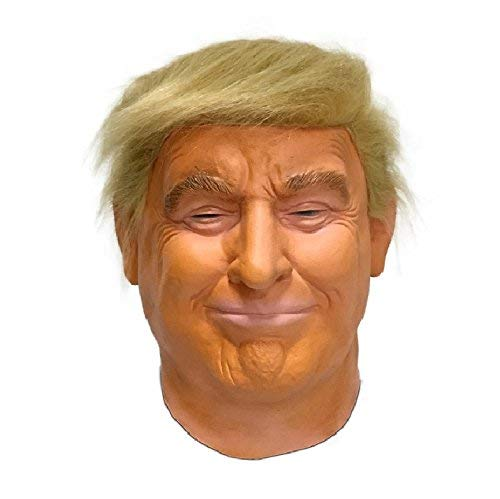 Hengyutoy Mask Donald Trump Maske Latex. Die Präsidenten Maske als Perfekte Ergänzung zu Ihrem - Promi Halloween Kostüm