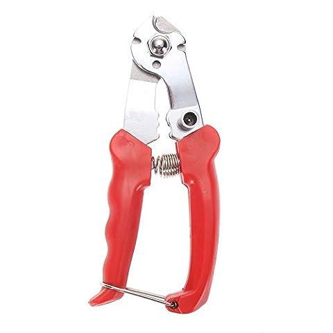UEB Pince Coupe-câbles pour Câble de Frein de Vélo, Pince Coupe-fils et Coupe-gaines en Acier Ioxydable pour Freinage, Rouge