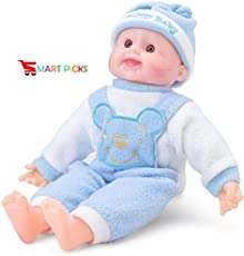 Smart Picks Laughing Baby Stuffed Soft Plush Toy with Laughing Sound 37cm (Colour May Vary)