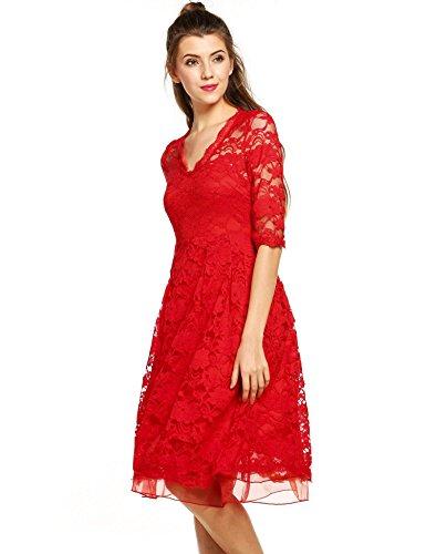 ZEARO Reizvoller Damen Partykleid Spitzenkleid Abendkleid ...