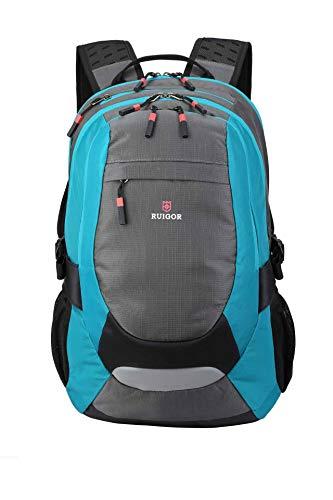 Ruigor Active 29 Blau - Robuster Trekking Rucksack Wasserabweisender Outdoor Rucksack 28l Laptop Tasche 15.6 Zoll
