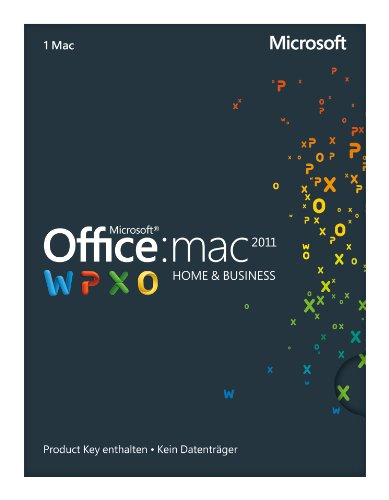 Microsoft Office Mac Home and Business 2011 - 1MAC (Product Key Card...
