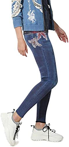 Desigual Damen Leggings Nala Woman Blau