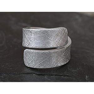 Spiralring Aluminium eismatt