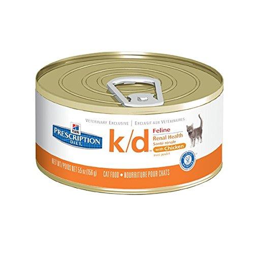 Hill' s Prescription Diet Feline K/d Salute renale Cibo per Gatti Scatole 24x 156g Pollo