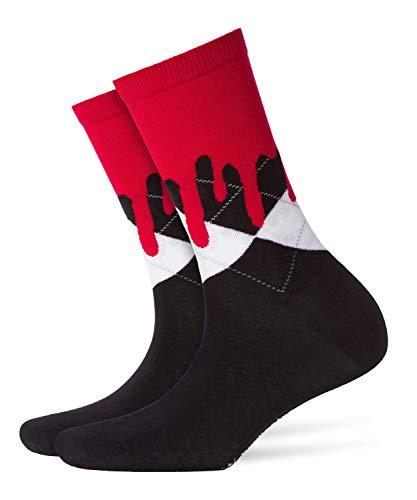 Burlington Damen Socken Bloody Halloween Box, Mehrfarbig (Black -