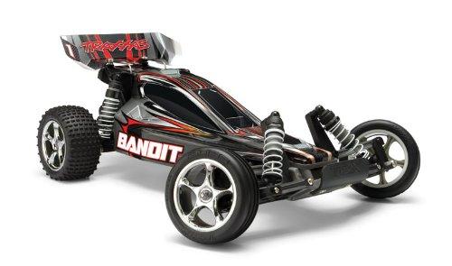 Traxxas TRX24054-1 - Bandit Brushed RTR Buggy 2WD 1:10 inklusive 12 V Ladegerät, schwarz