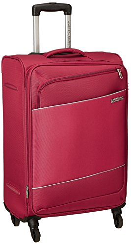 American Tourister Timor Polyester 67 cms Red Softsided Check-in Luggage (AMT Timor Spinner 67CM - RED)