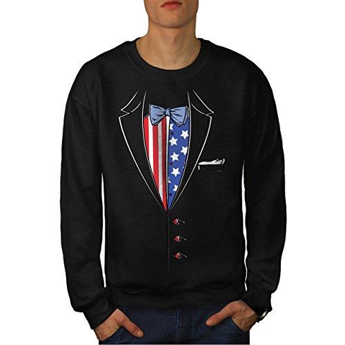 USA Flagge Anzug Mode Herren S Sweatshirt | Wellcoda