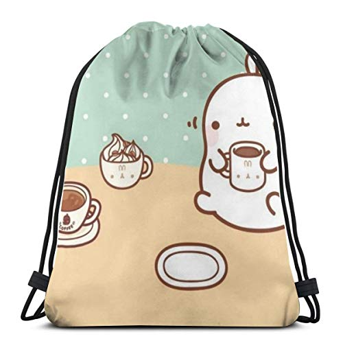 Dog Muzzle Toy Playing Print Drawstring Backpack Rucksack Shoulder Bags Gym Bag for Adult Child 16.9x14.1 Drawstring Bags