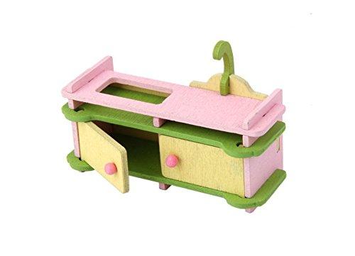 Kimberleystore lovely casa delle bambole in miniatura di legno giocattolo bambini pranzo. Set