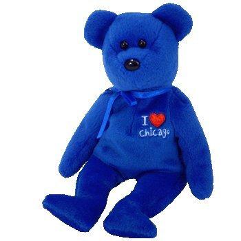 Ty Beanie Babies Bear-I Love Chicago der Bär