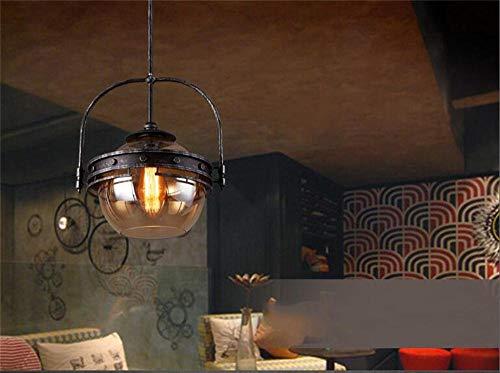 Art-deco-glas-kronleuchter (MJK Pendelleuchten, Nordic Retro Amber Glas Kronleuchter Kreative minimalistische Art Deco Restaurant Cafe Bar Lampen)